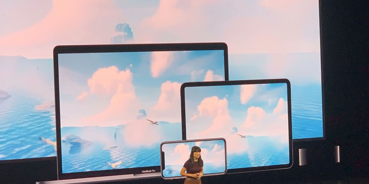 Anne Thai shows off Apple Arcade.