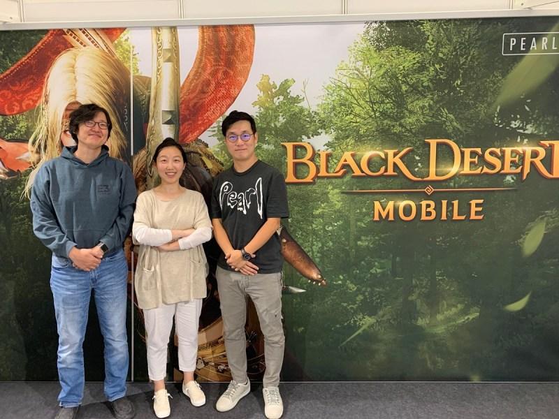 The Black Desert Mobile team at Gamescom 2019.