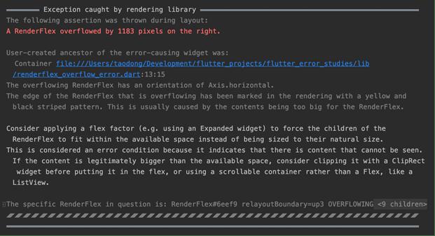Flutter's better error messages