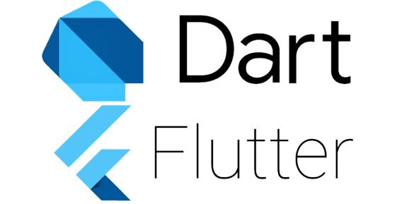 Google's Dart and Flutter logos