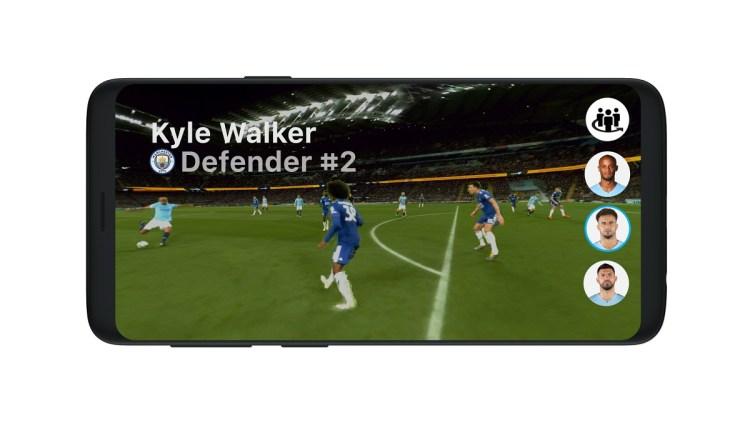 Intel Sports shows True View immersive sports demo.