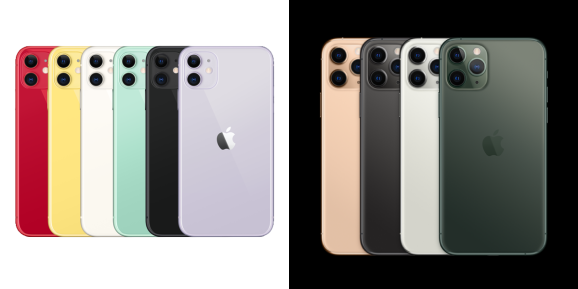 iPhone 11 colors and iPhone 11 Pro colors
