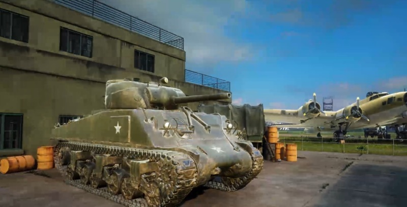 You will feel what it's like to be in a Sherman tank in Medal of Honor: Above and Beyond.