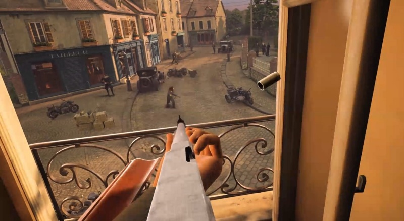 The opening mission of Medal of Honor: Above and Beyond. You are in the French Resistance.