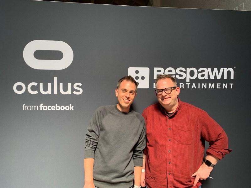 Michael Doren of Oculus and Peter Hirschmann of Respawn Entertainment.