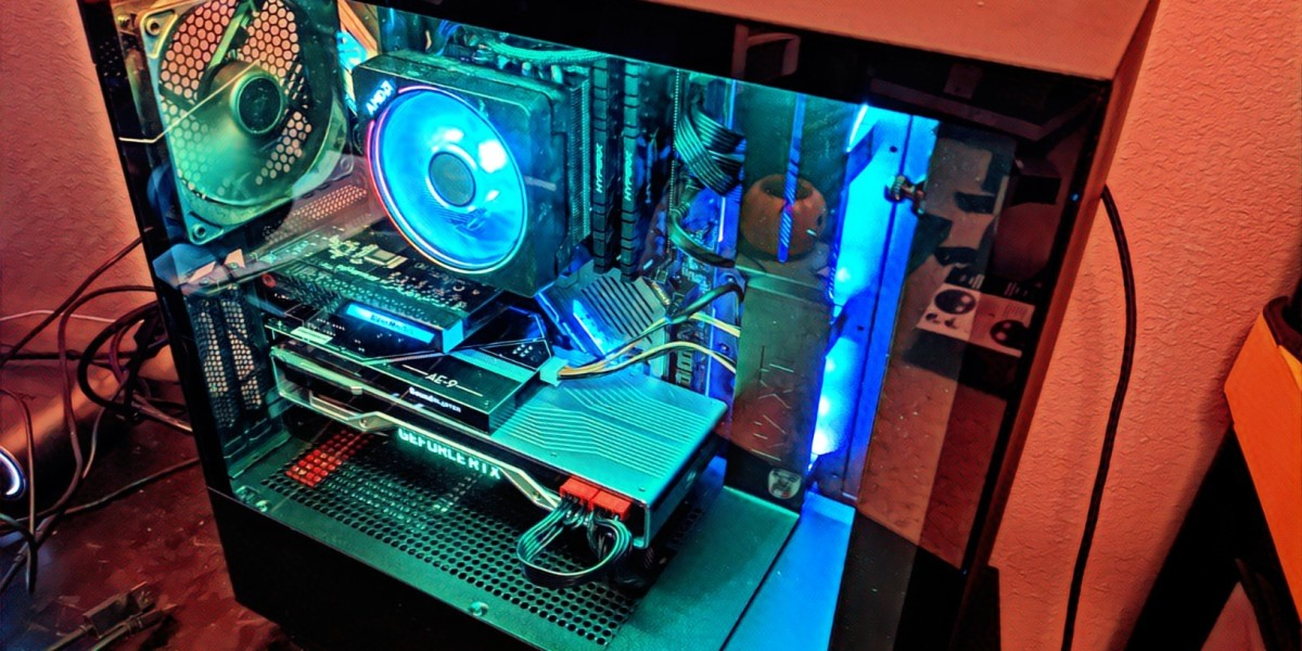The NZXT H510i PC enclosure.