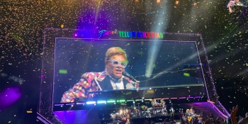 Elton John live at the Chase Center in San Francisco.