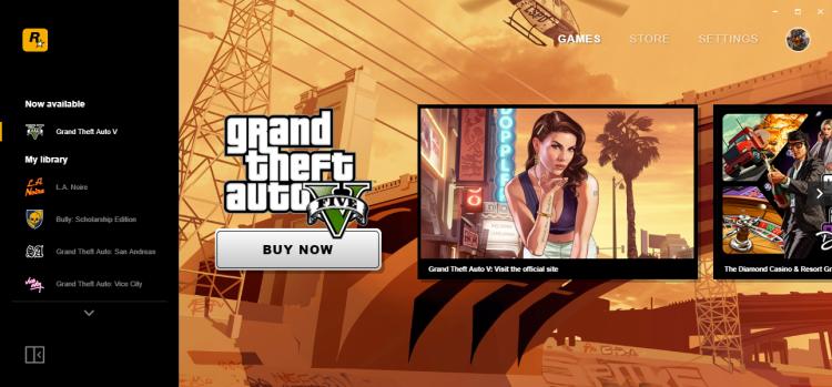 Rockstar Games Launcher.
