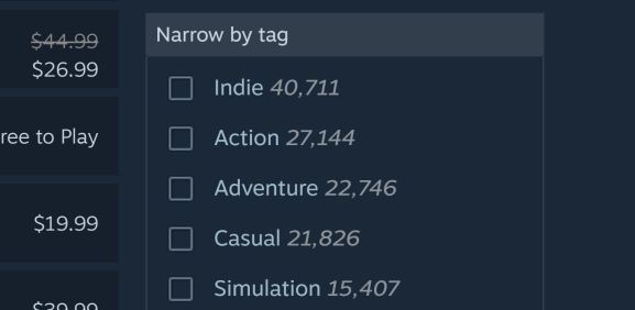 That's a lot of indies.