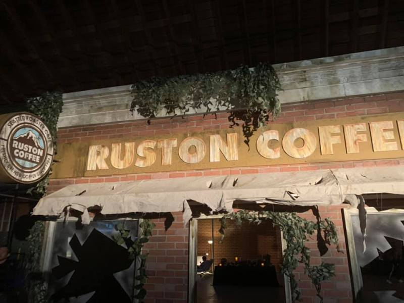 A real-life rendering of Ruston Coffee shop from The Last of Us Part II.