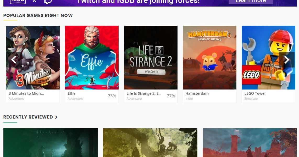 Twitch is planning to help spruce up IGDB's data and technology.