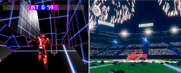 Two 5G games will debut at the Super Bowl from Juncture Media (right) and Colorfiction.