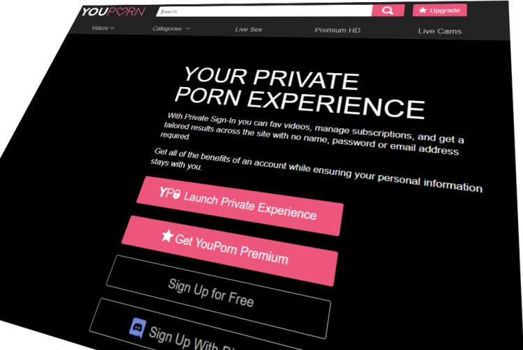 YouPorn's new Private Sign In