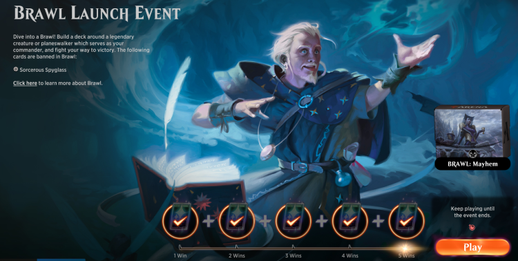 Brawl is a new mode for Magic: The Gathering --Arena.