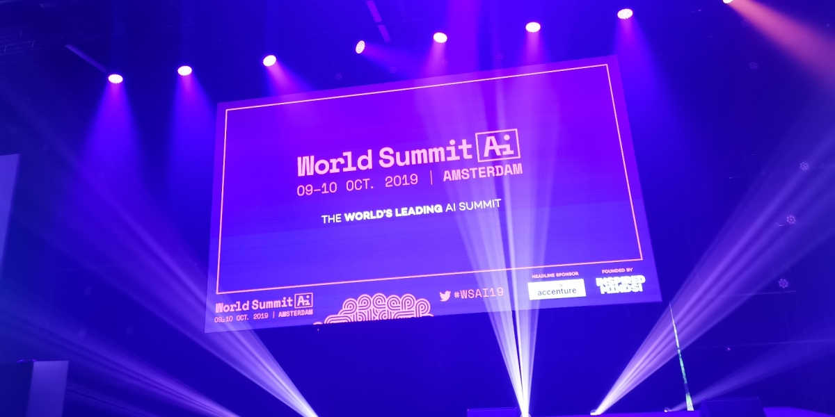 World Summit AI main stage in Amsterdam, Wednesday October 9, 2019.