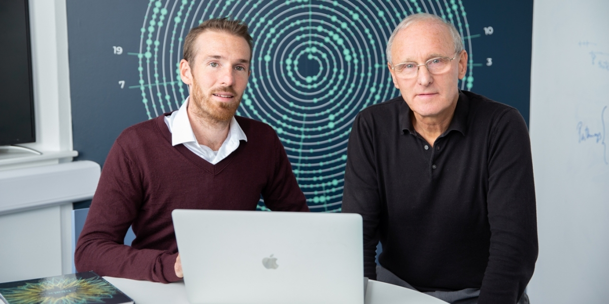 Cofounders: Healx CEO Dr. Tim Guilliams (left) with Dr. David Brown (chairman)