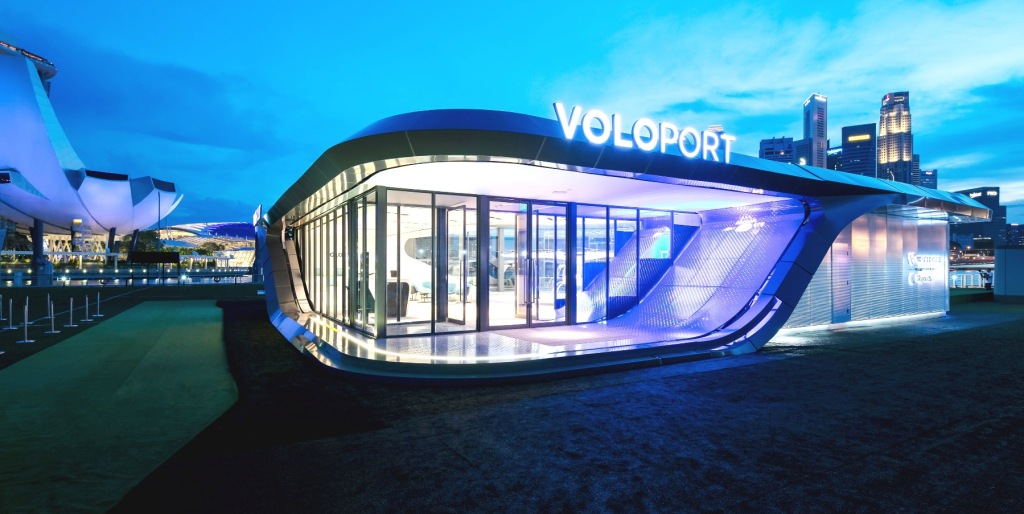 "Volocopter ""Voloport"" in Singapore showcases"