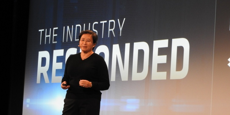 Lisa Su, CEO of AMD, at the company's press and analyst day.