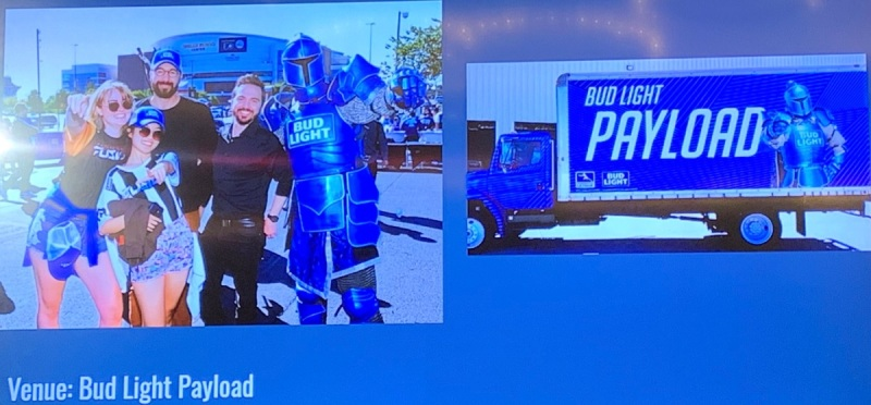 Bud Light's payload at Overwatch League event.