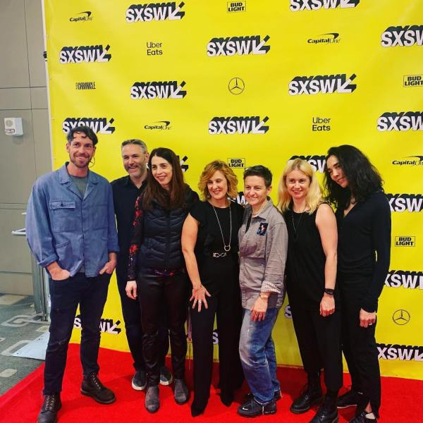 The Friends With Hologram founders with friends at SXSW.
