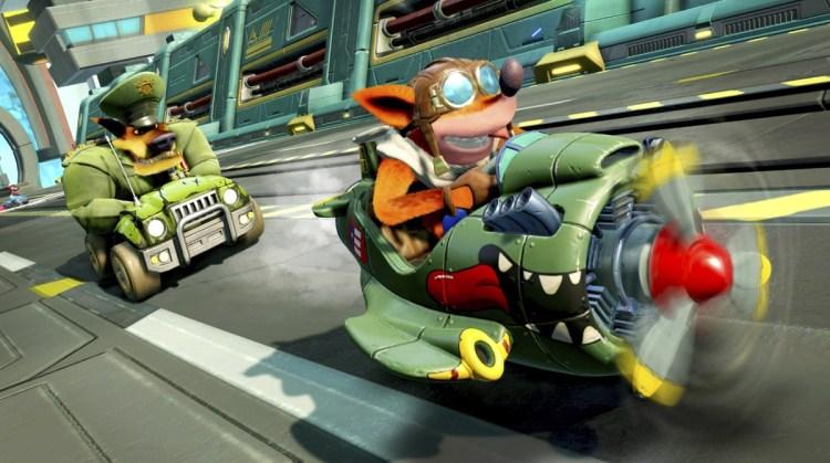 Crash Team Racing's Call of Duty kart.