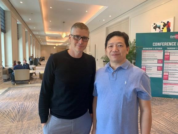 Michael Broda, CEO of ESPL, (left), and chairman Kirwan Lau.
