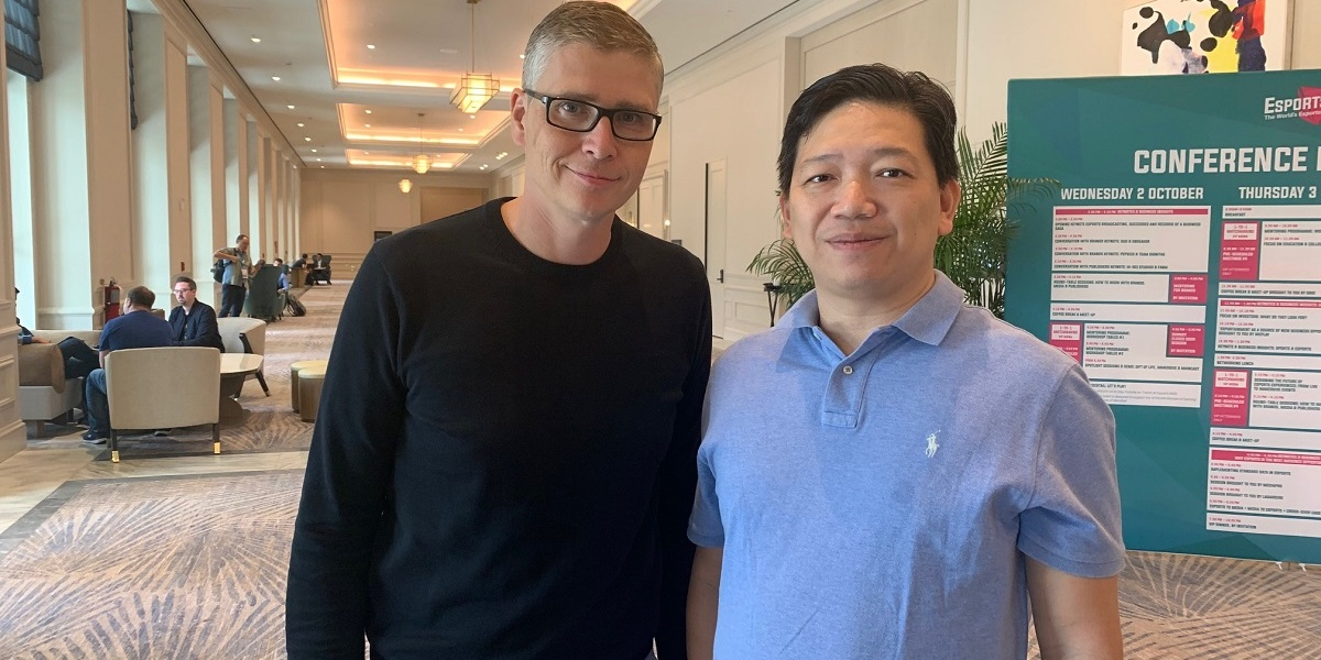 Michael Broda, CEO of ESPL, (left), and chairman Kirwan Lau.