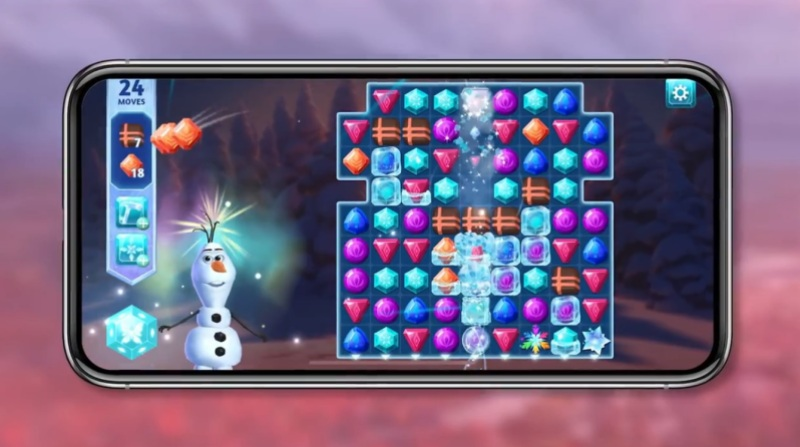 Disney Frozen Adventures is a match-3 game.