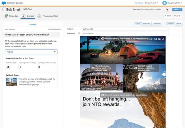 Salesforce Einstein Content Selection