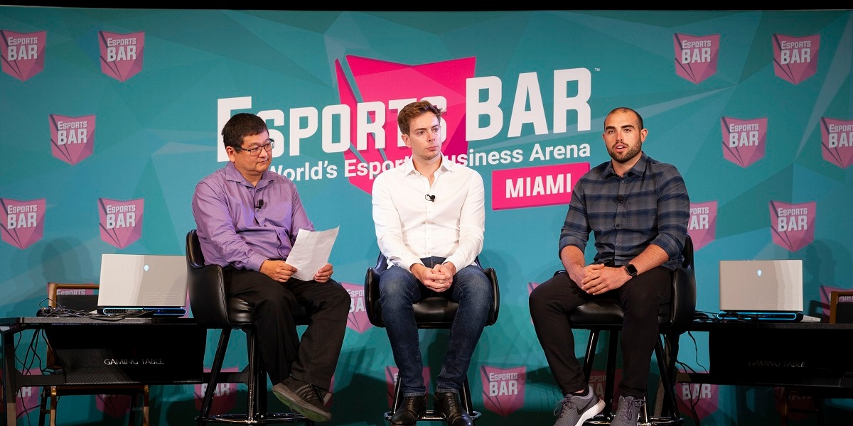 Left to right: Dean Takahashi of GamesBeat, Stuart Saw of Endeavor, and Joe Barnes of Anheuser Busch.
