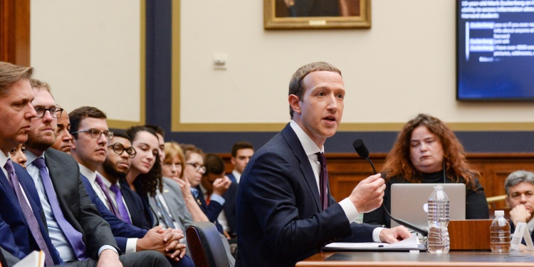 Facebook Chairman and CEO Mark Zuckerberg testifies at a House Financial Services Committee hearing in Washington