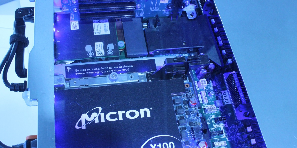 Micron makes memory devices like 3D Xpoint memory.