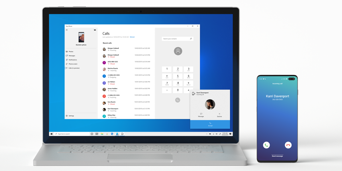 Microsoft's Windows 10 now lets testers try Android phone calling