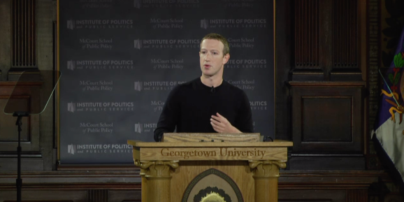 Mark Zuckerberg @ Georgetown