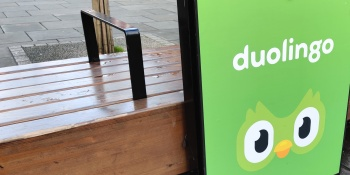 Duolingo sign in London. November 24, 2019.