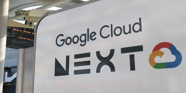Google Cloud Next sign, London 2018