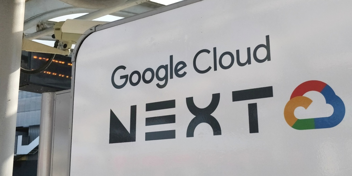 Google Cloud Next sign, London 2018
