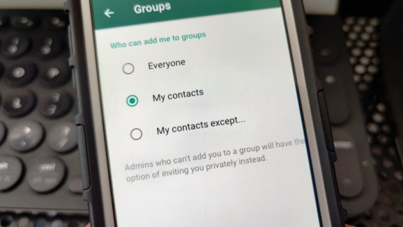 WhatsApp Group Option