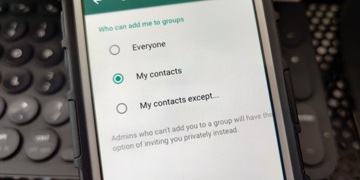 WhatsApp Group Option