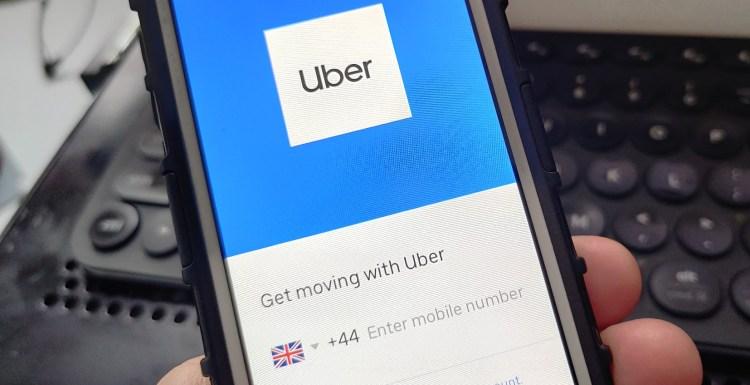 Uber app in London, U.K.