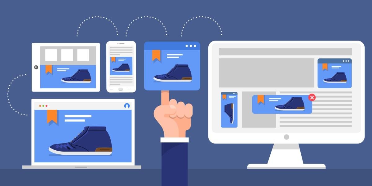 Flat design concept digital marketing retargeting or remarketing.