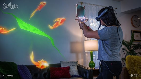 Strangelets is an AR game for Magic Leap One from Insomniac Games.