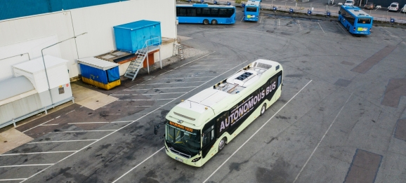 Volvo's autonomous bus demo