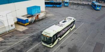 Volvo's prototype autonomous bus drives itself around depots