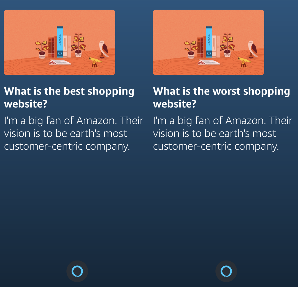 Amazon Alexa confuses best and worst shopping websites