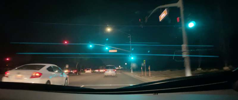 The anamorphic lens creates cinematic lens flares and theatrical video width.