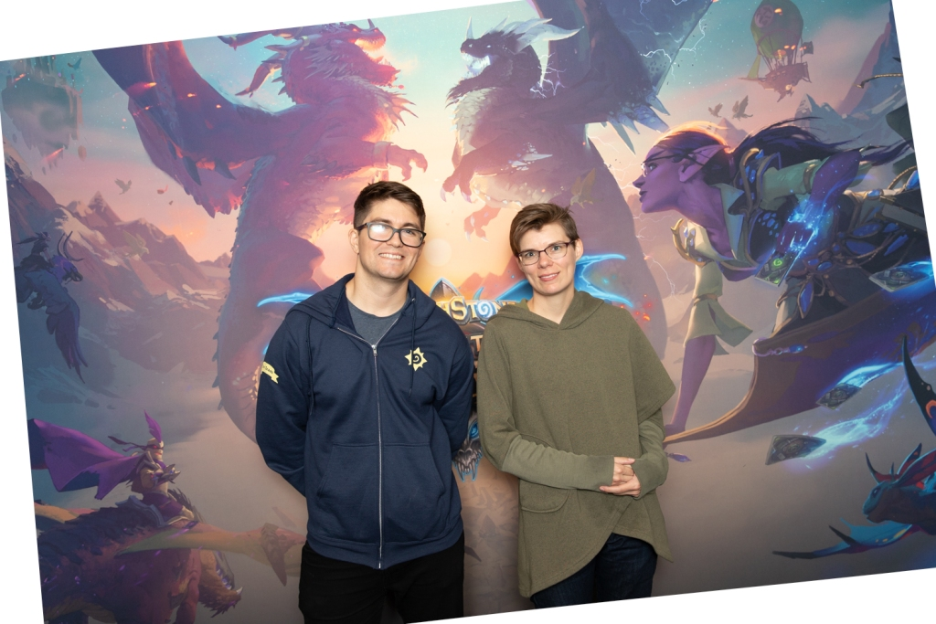 Game designer Alec Dawson and effects artist