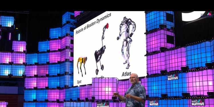 Boston Dynamics CEO Marc Raibert presenting at Web Summit 2019