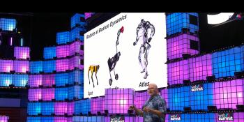 Boston Dynamics CEO Marc Raibert presenting at Web Summit 2019