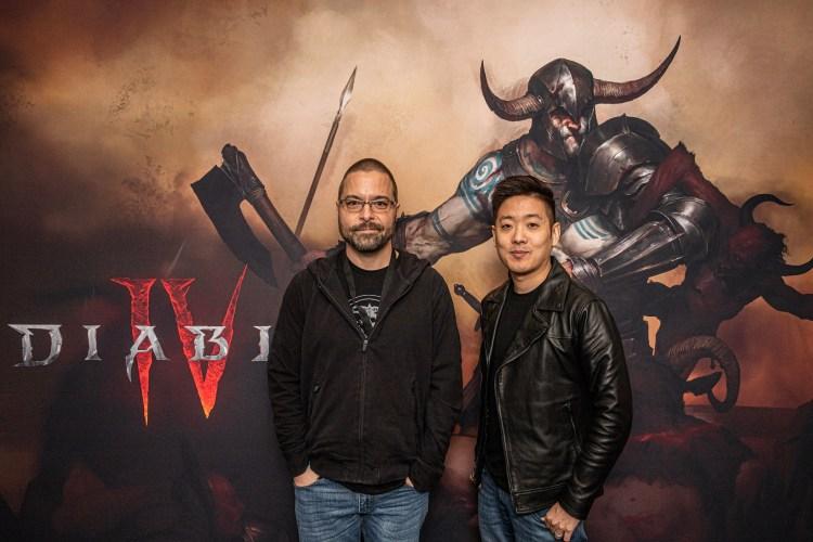 Diablo 4 developers Sean Murphy and David Kim.